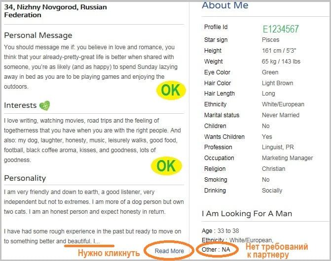 лучшие требования к мужчинам на сайтах знакомств