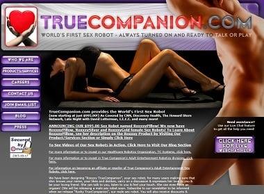 Truecompanion.com offers sex robots.