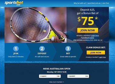 Betting Australian Open Tennis 2016