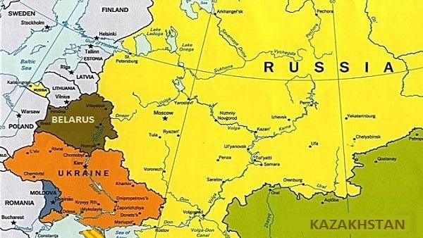Russia, Ukraine map