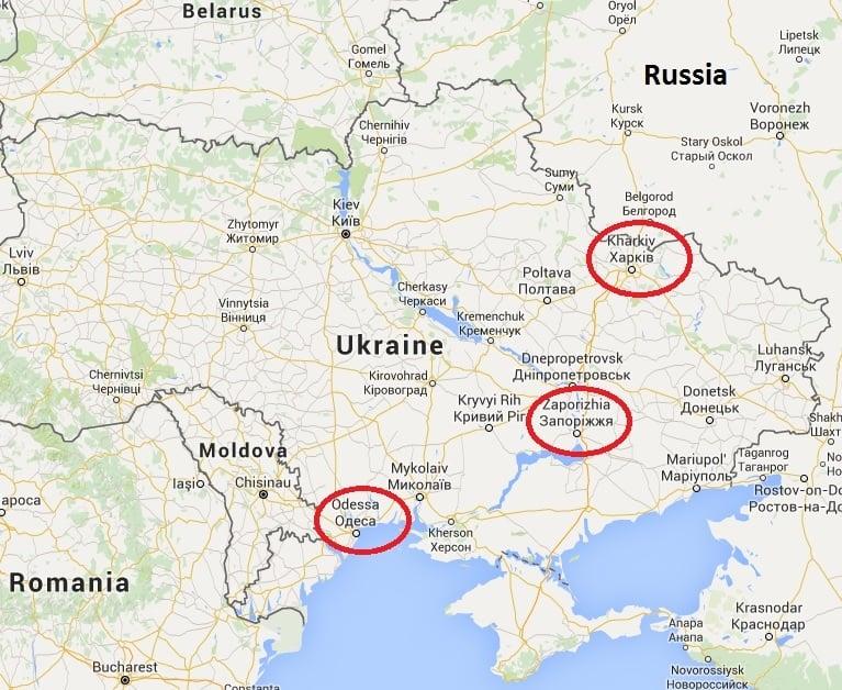 Elena's Models ban Odessa, Kharkiv, Zaporizhia