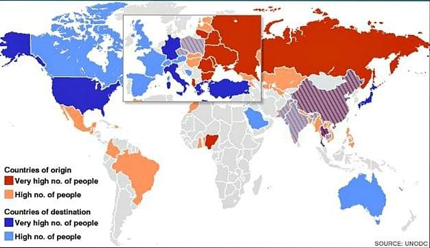 В каких странах больше всего развита проституция