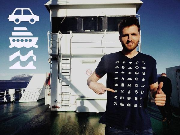 Iconspeak T-shirts for International Tourists
