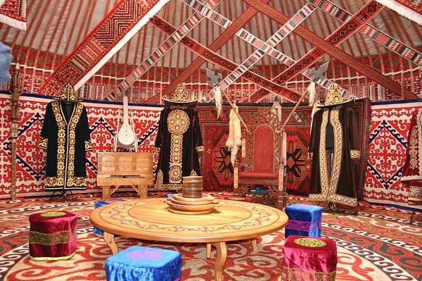 National Kazakh yurt.