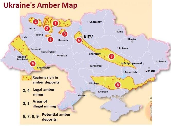 Ukraine amber map