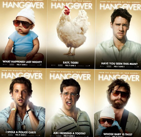 Hangover movie questions.