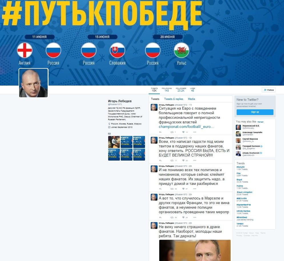igor lebedev twitter screenshot