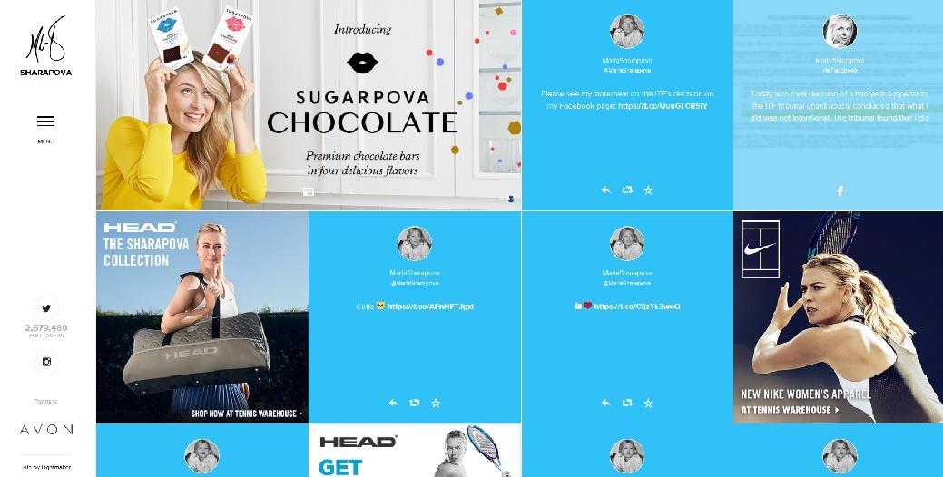 Maria Sharapova sponsors