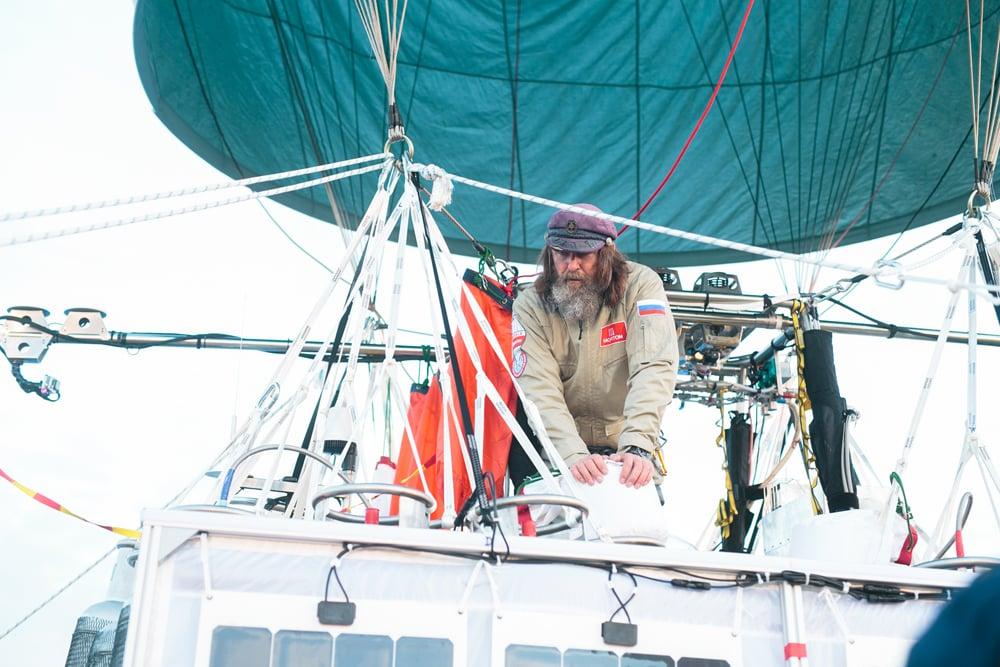 Konyukhov on board.
