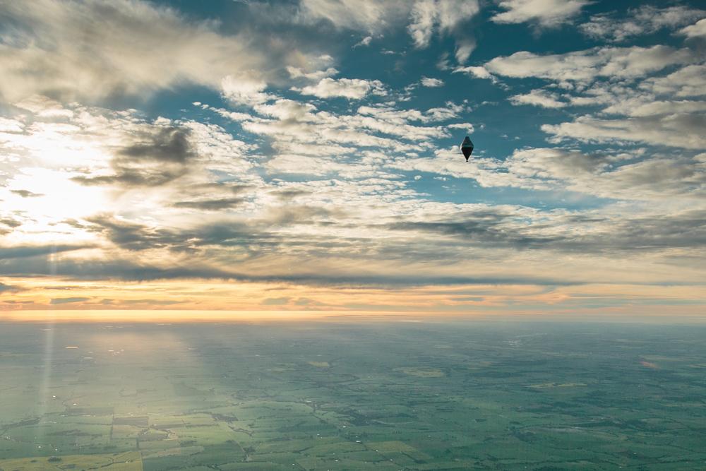 Flight on hot air balloon, Fedor Konyukhov.