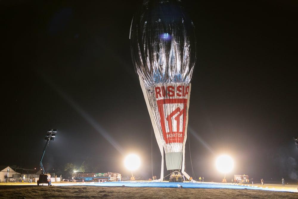 Hot air balloon launch.