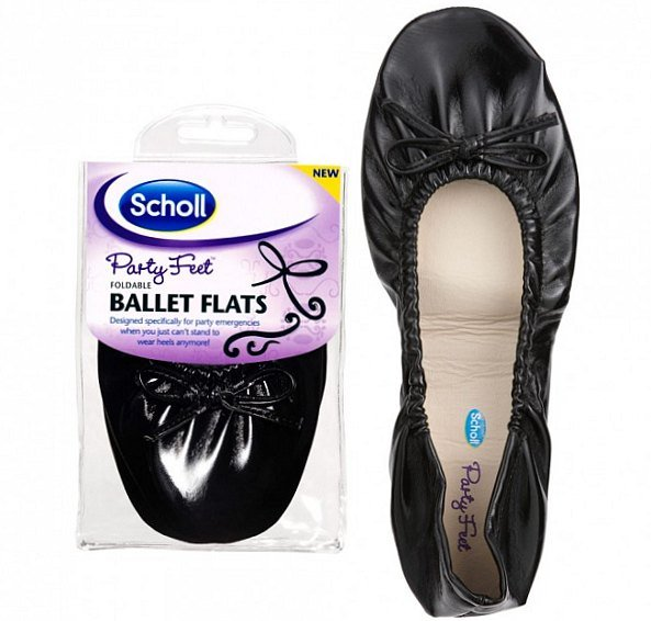Складные балетки Scholl Party Feet.