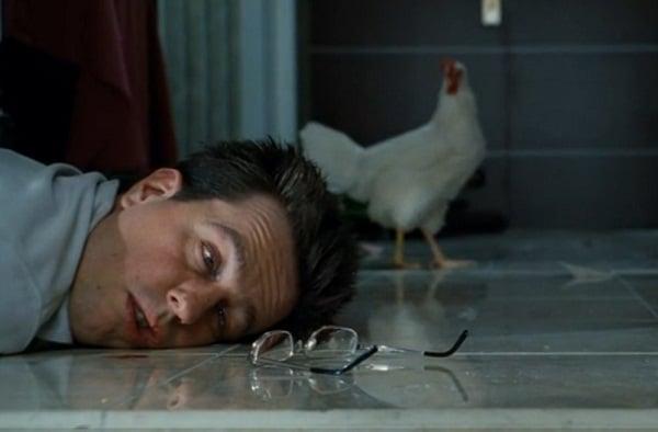 Morning scene in the Hangover movie.