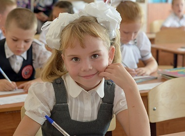 "1 September is the state-wide ""Back to School Day"" in Ukraine, Russia"