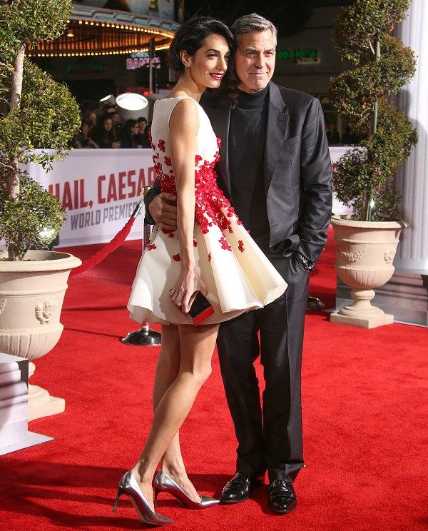 Джордж Клуни с женой Амаль.