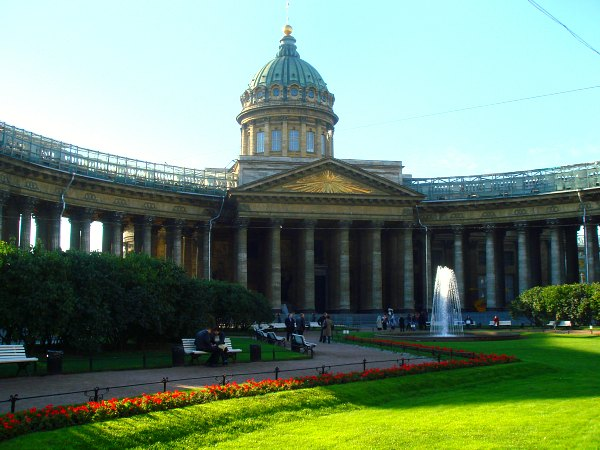 Kazan Cathedral, St Petersburg, Russia.