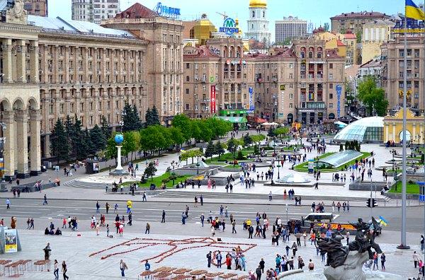 Maidan Nezalezhnisti (Independence Square) in Kiev.