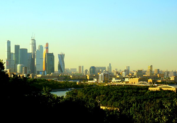 View from Sparrow Hills to Moscow City.