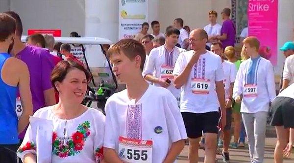 Vyshivanka run in Kiev, Ukraine.
