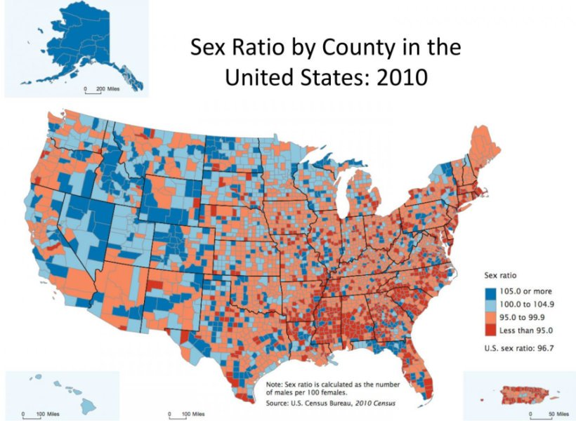 Gender ratio theory proved in the USA
