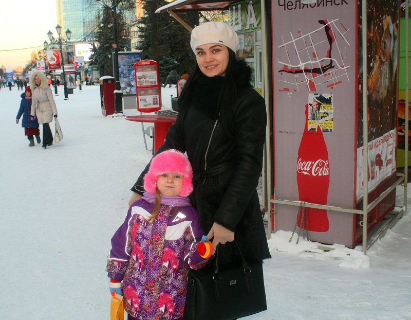 Russian street style in winter