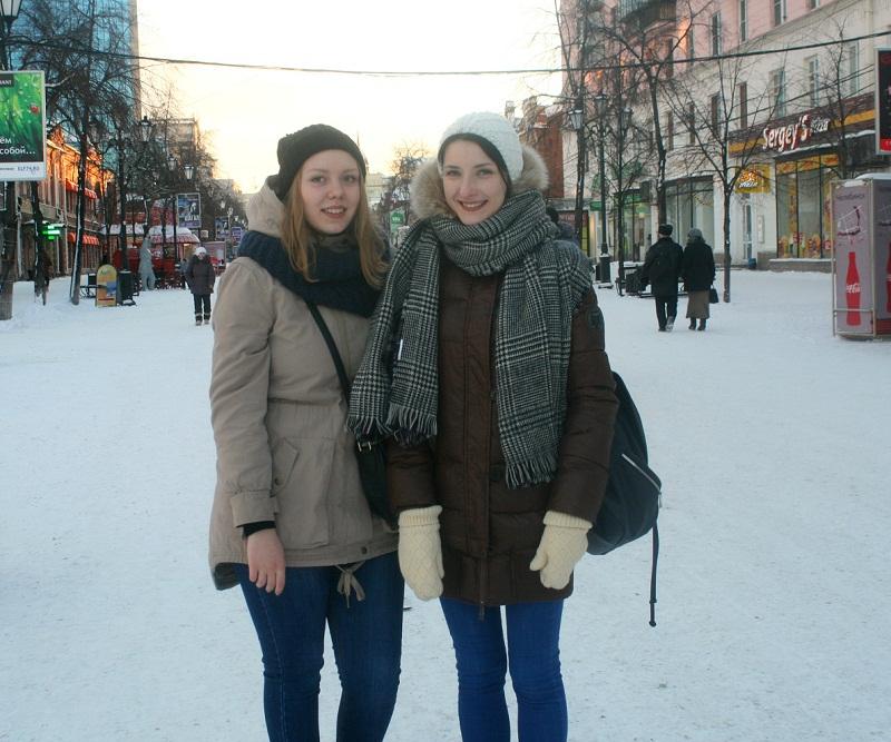 Russian street style in winter