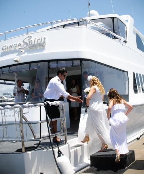 Яхта Circa Spirit, свадьба Елены.