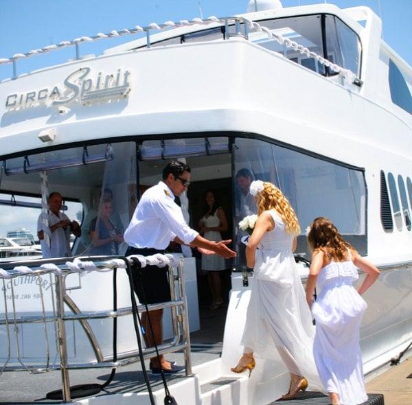 Свадьба на яхте.