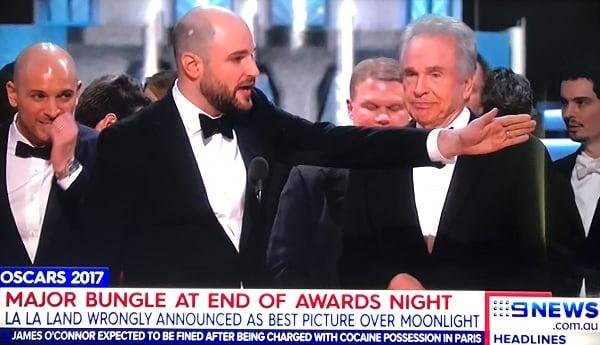 Дэмьен Шазелл, Ла Ла Ленд объявление Оскар 2017.