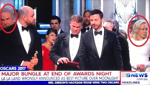 Уоррен Битти и Фэй Данауэй, Оскар 2017.