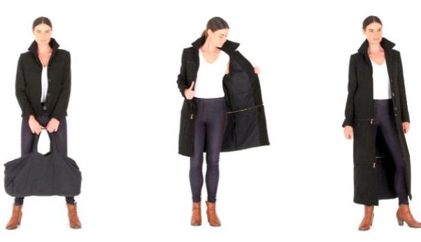 Как спрятать багаж в пальто