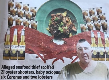 Австралийский рэппер прыгнул в море, чтобы не платить 621 доллар за ужин.