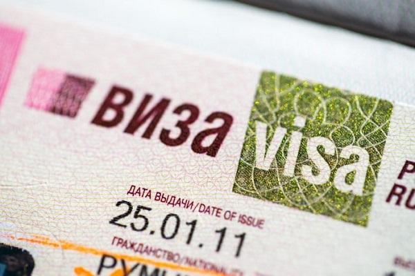 Russian visa.
