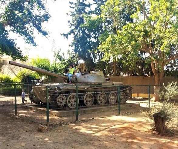 Трофейный Сирийский танк