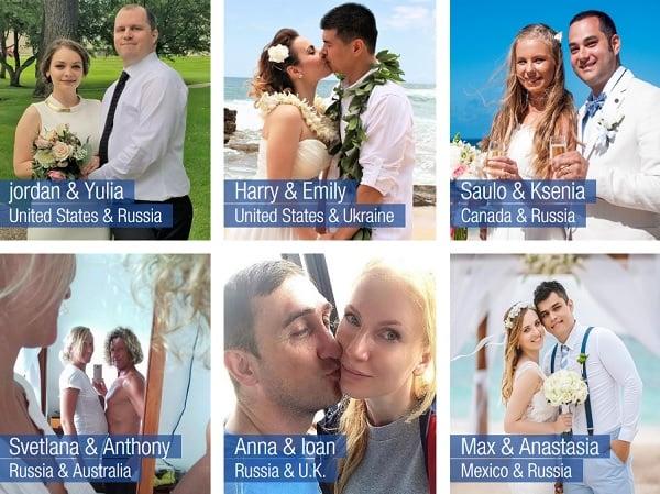 Happy marriages with Ukrainian women.
