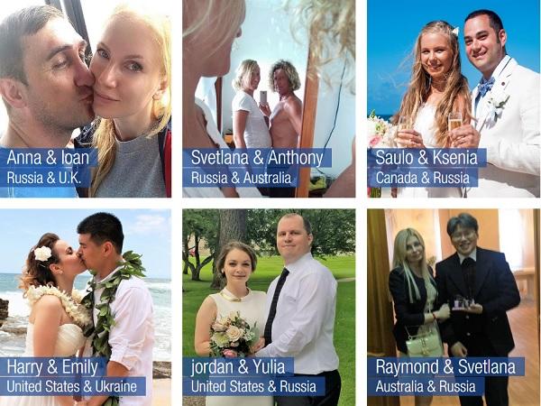 Happy couples who met on Elenasmodels.com.