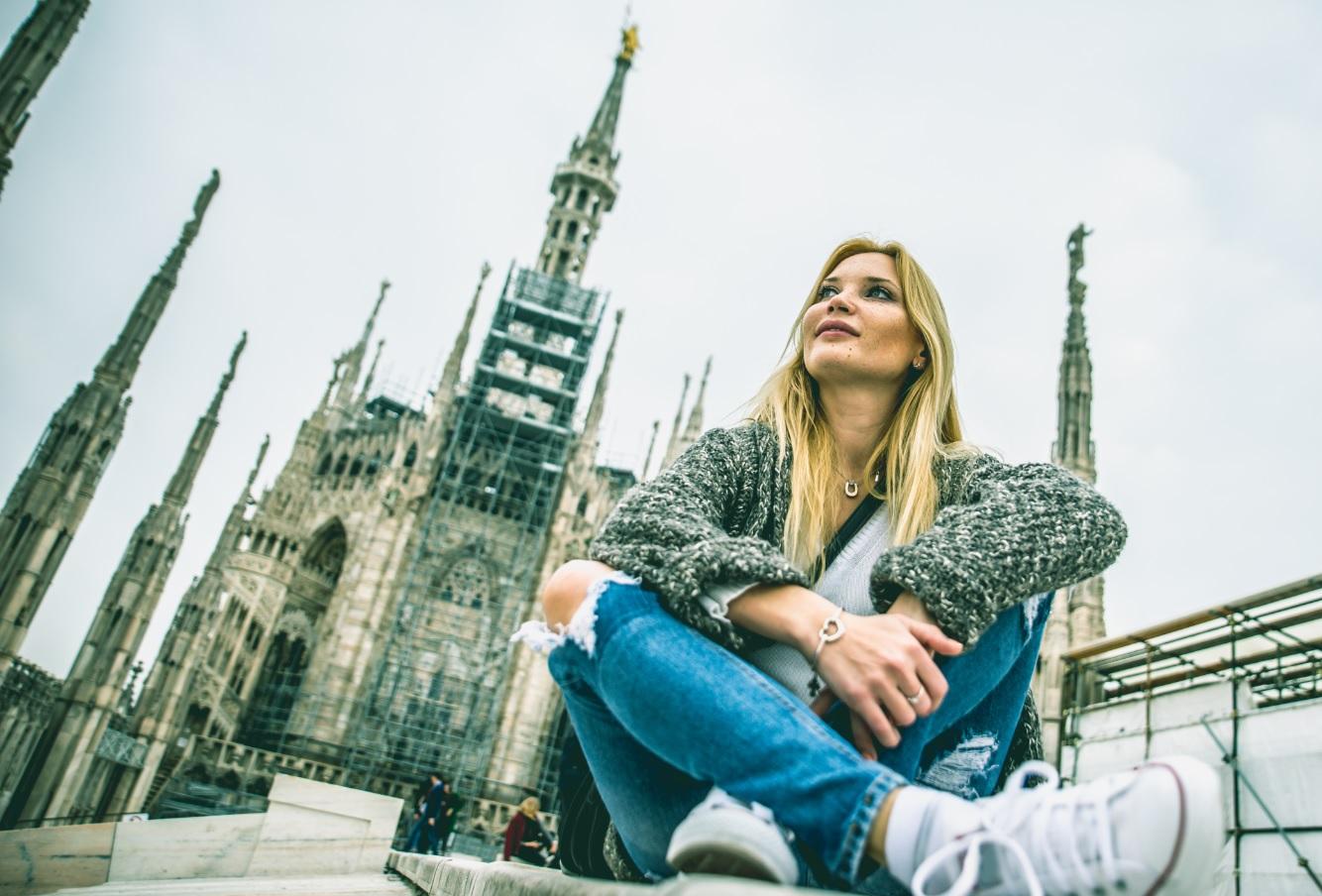 Ukrainian girls in Italy.